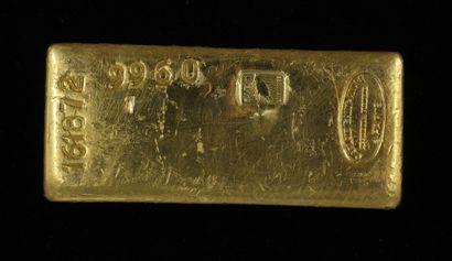*Un lingot en or Caplain Saint André n°161872,...