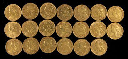 *Vingt demi souverains en or