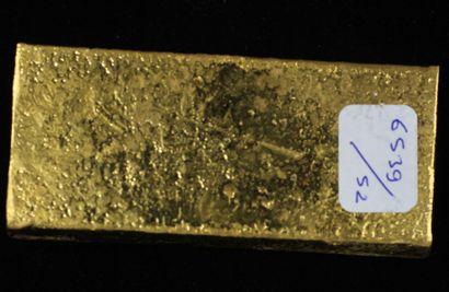 *Un lingot en or Caplain Saint André n°161877, pds : 996,9 g.