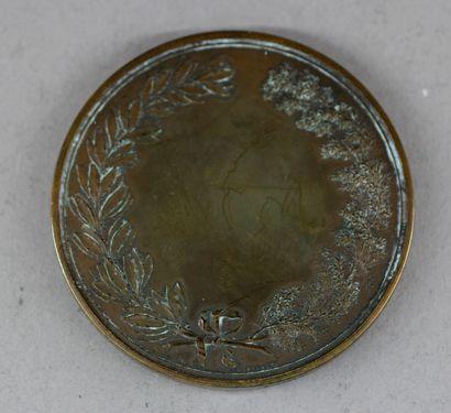Lot :  - Médaille en bronze patiné Attaque de l'Hotel de ville 28 juillet 1830,...