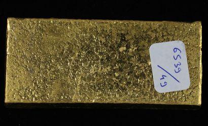 *Un lingot en or Caplain Saint André n°161876, pds : 996,9 g.