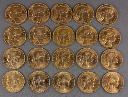 *Vingt pièces de 20 FF en or