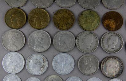 *Lot de pièce divers dont deux pièces de 10 FF Turin en argent
