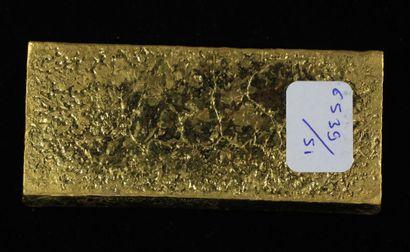 *Un lingot en or Caplain Saint André n°161882, pds : 996,9 g.
