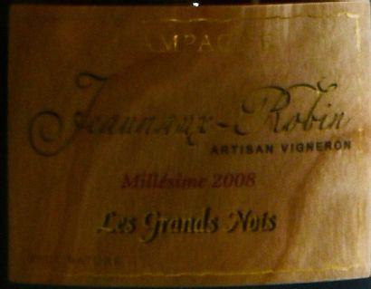 """6 bouteilles CHAMPAGNE, """"Les Grands Nots"""", Jeannaux-Robin 2008"""