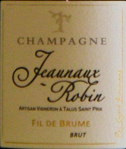 """6 bouteilles CHAMPAGNE """"Fil de Brume"""", Jeannaux-Robin"""