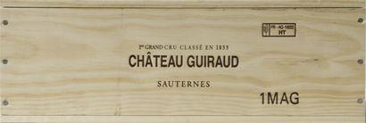 1 magnum Château GUIRAUD, 1° cru Sauternes...