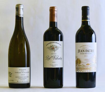 3 bouteilles ,VINS DIVERS ,(La Taille aux...