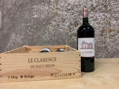 3 magnums CLARENCE DE HAUT-BRION, Pessac-Léognan...