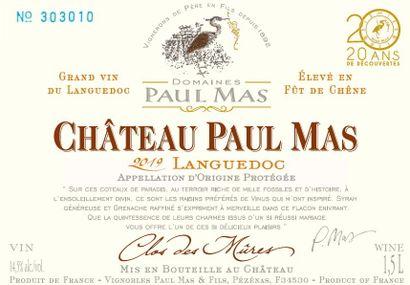6 magnums  CLOS DES MÛRES, Château Paul Mas,2019