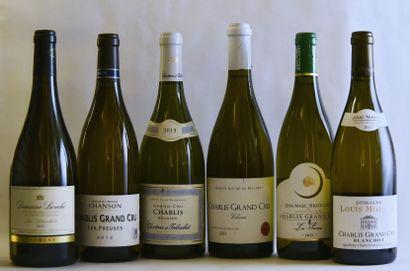 6 bouteilles CHABLIS GRAND CRU  (Blanchots...