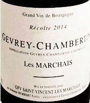 2 Bouteilles de Gevrey-Chambertin « Les Marchais », GFV Saint-Vincent Les Marchais...