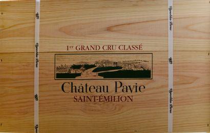 6 bouteilles Château PAVIE, 1° Grand Cru...