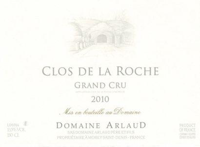 1 magnum CLOS DE LA ROCHE, Domaine Arlaud 2010 cb