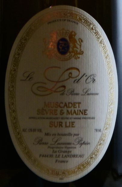 """6 magnums, MUSCADET ,""""L d'Or"""",Luneau-Papin, 2011"""