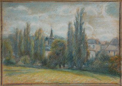 Ecole moderne  Les peupliers à la Celle Dunoise...