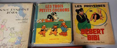 Lot de livres d'enfants dépareillés (accidents)