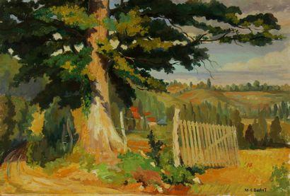 Charles-Edouard BOULET  Paysage  Huile sur...