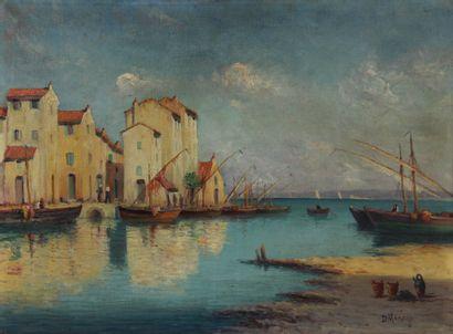 Dominique MANAGO (1902-?)  Port de pêche...