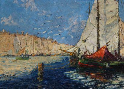 Mério AMEGLIO (1897-1970)  Entrée du port...