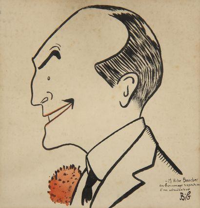 Georges BREITEL dit BIB (1888-1966)  Portrait...
