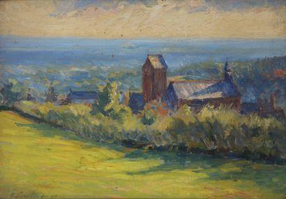 Georges François SOUILLET (1861-1947)  Paysage...