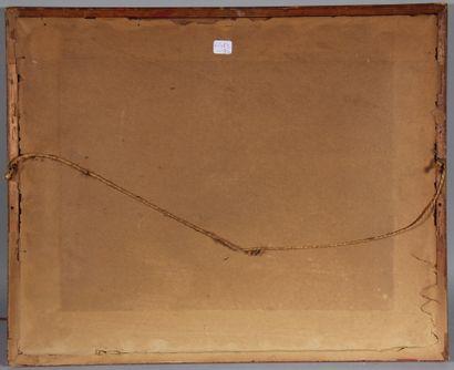 Charles Jones WAY (1834-1919)  Le col de Zinal  Aquarelle signée en bas à droite...