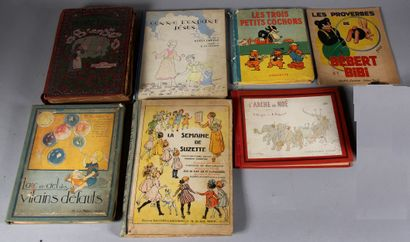 Lot de livres d'enfants dépareillés (acc...