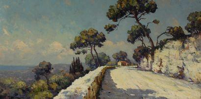André BERONNEAU (1886-1973)  Route dans l'Estérel...