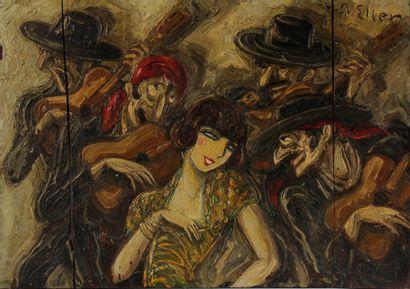 Lucien ELLER (1894-1940)  Les musiciens tsiganes...