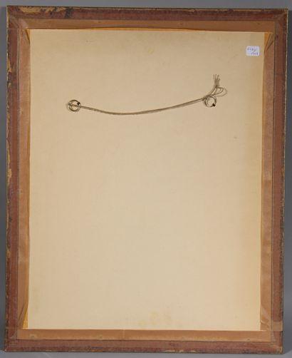 Wenceslas DEDINA (1872-?)  Femme et son bébé  Fusain et crayon blanc sur papier...