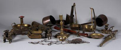 Lot en cuivre et métal divers
