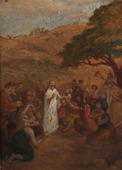 Adolphe Félix BROËT (1873-1942)  L'Adoration...