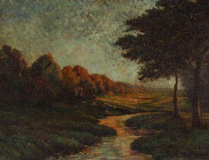 Camille BOUCHARD (1889-1973)  Ruisseau au...