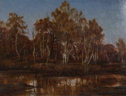 Adrien SCHULZ (1851-1931)  Bord de rivière...