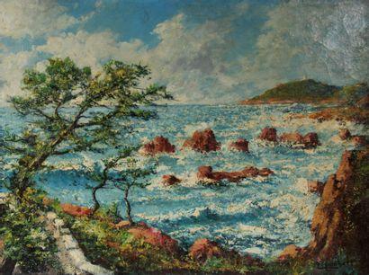 Eugène C. LAMBERT (XIX-XXème s.)  Bord de...