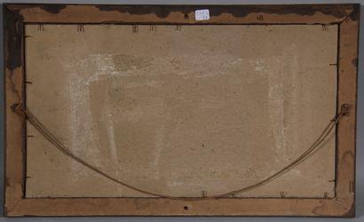 Lot :  - Ecole moderne  Falaises au bord de la mer  Aquarelle  20 x 35 cm.  - M...