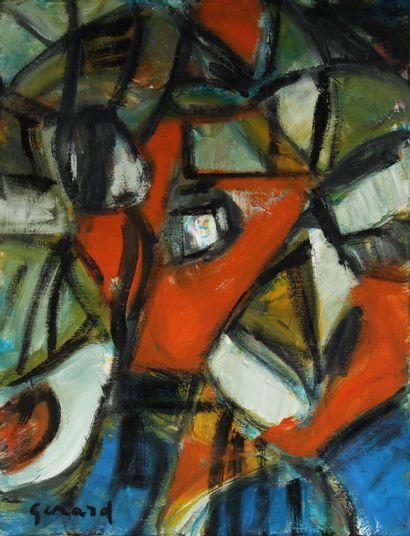 Lydie GERARD (1920-2008)  L'aurore  Huile...