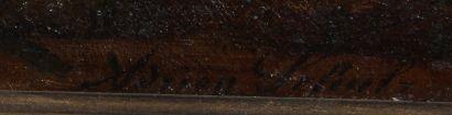 Adrien SCHULZ (1851-1931)  Bord de rivière  Huile sur toile signée en bas à droite...
