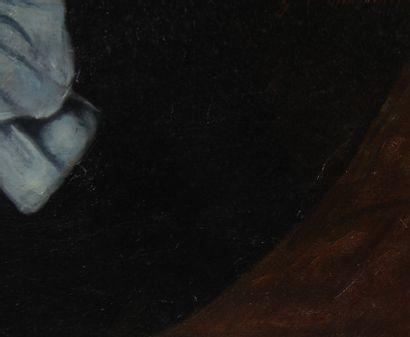 G.V. MARTIN  Portrait de femme  Huile sur toile signée au milieu à droite et datée...