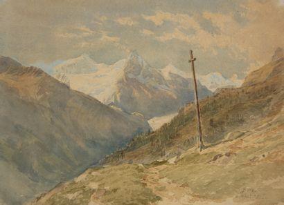Charles Jones WAY (1834-1919)  Le col de...