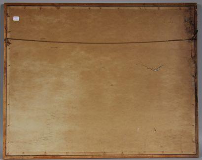 SCHLICHTING  L'abbaye chez Joseph  Gouache sur carton signée, datée en bas à gauche...