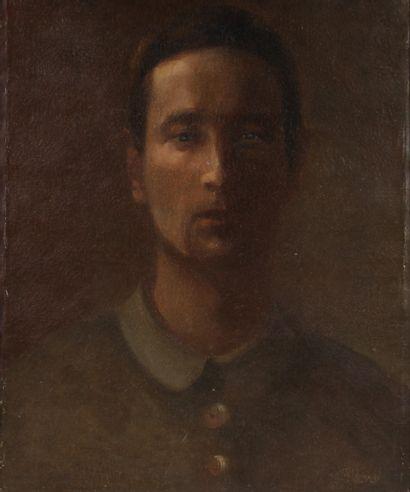 Ecole Moderne  Portrait d'homme  Huile sur...