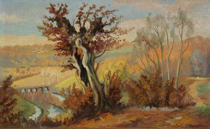 Charles BOULET PFEIFFER (1921-1970)  Paysage...