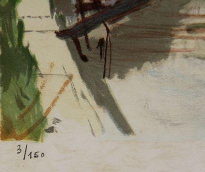 CONSTANT LE BRETON et divers  Trois lithographies signées