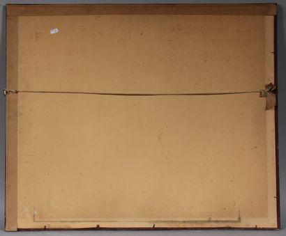 Ecole contemporaine  Venise  Crayon gras signé en bas à droite daté 1985  47 x 60...