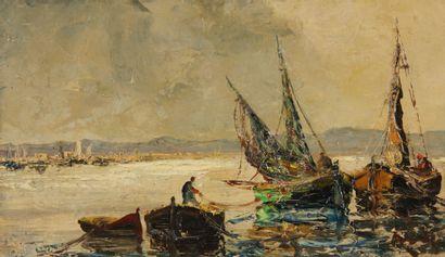 Henry d'ANTY (1910-1998)  Bateaux de pêche...
