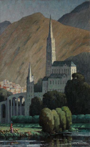 Jules Louis MORETEAU (1886-1950)  La Basilique...