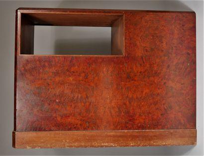 Bout de canapé en placage de ronce et bois...