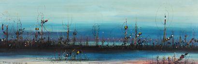Emile GERARD (1932-)  Les bateaux  Huile...